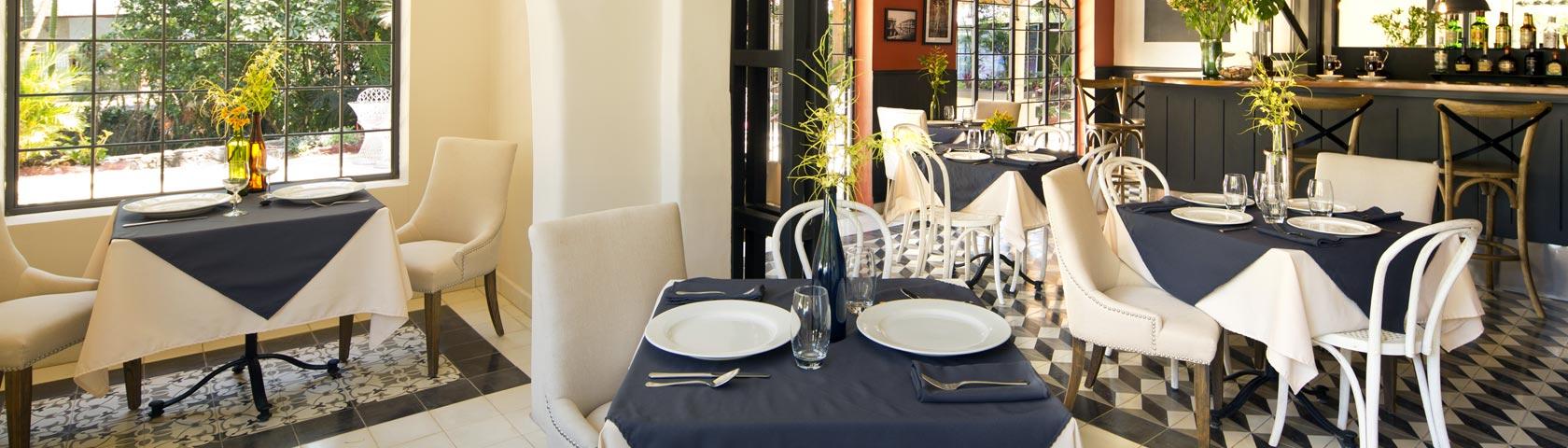 Pandora Restaurant tables