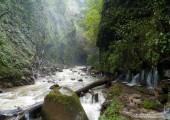 los chorros waterfall closeup