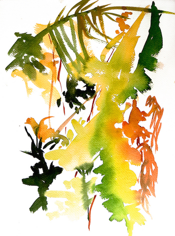 WatercolorLeafStudy2