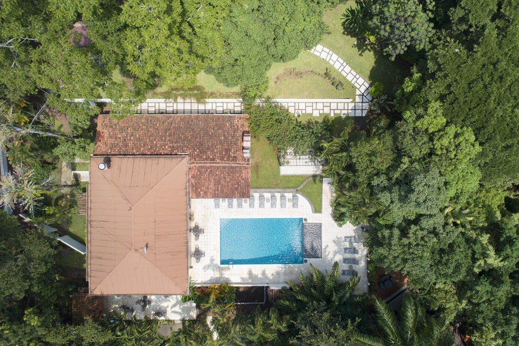 Top view of Pandora Restaurant at Hotel Villa San Ignacio in Alajuela, Costa Rica